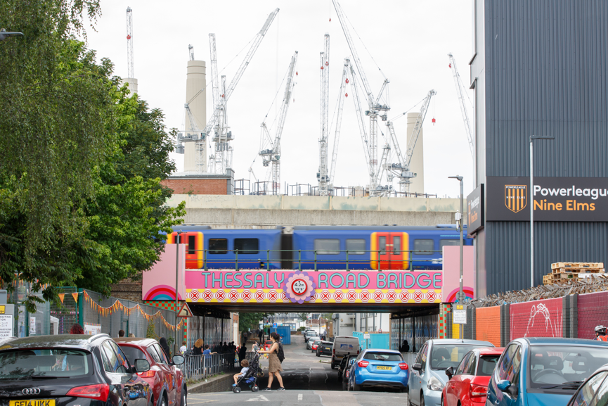 LFA and Wandsworth Council reveal transformed Thessaly Road Railway Bridge